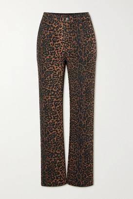 Ksubi Dynamo Leopard-print High-rise Straight-leg Jeans - Leopard print
