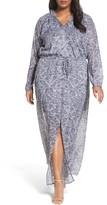 MICHAEL Michael Kors Plus Size Women's Hamilton Blouson Maxi Dress