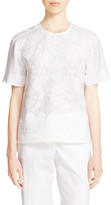 DKNY Embroidered Voile Shirt