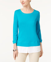 Karen Scott Cotton Layered-Look Active Top, Created for Macy's