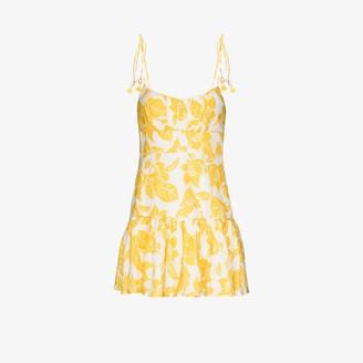 Zimmermann Bells floral print linen dress