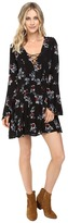 Brigitte Bailey Gia Lace-Up Floral Print Dress