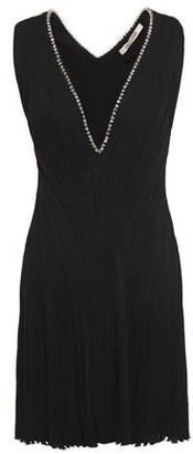 Roberto Cavalli Crystal-embellished Plisse Crepe Mini Dress