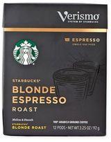 Starbucks VerismoTM 12-Count Blonde Espresso Roast Espresso Pods
