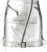 Manokhi metallic biker skirt