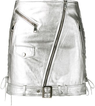 Manokhi Metallic Biker Skirt