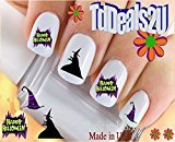 Holiday Halloween - Happy Halloween Witch WaterSlide Nail Art Decals - Highest Quality! Made in USA