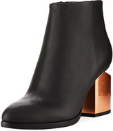 Alexander Wang Gabi Tilt-Heel Leather Boot, Black