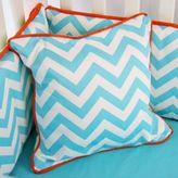Caden Lane Bright Baby Green Square Pillow in Turquoise