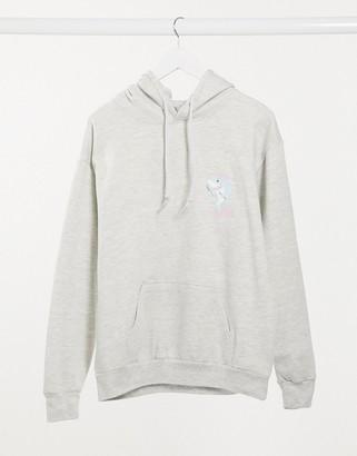 Skinnydip Skinny Dip shark hoodie in grey