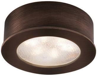 W.A.C. Lighting LED Button Light, Copper Bronze, Round, 3000k Soft White