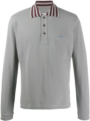 Vivienne Westwood striped detail polo shirt