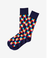 Express optical dot dress socks