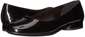 Ecco Anine Ballerina (Black Cow Leather) Women's Slip on Shoes