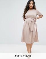 Asos Tie Front Midi Dress
