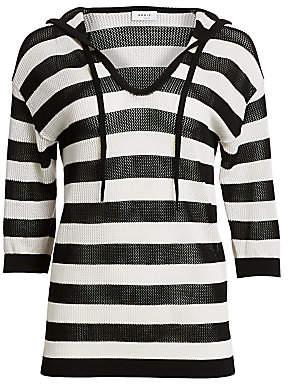 Akris Punto Women's Open Knit Hooded Pullover