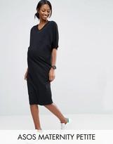 Asos PETITE Kimono Sleeve T-Shirt Midi Dress