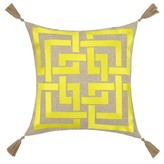 Trina Turk 20x20 Shanghai Links Embroidered Pillow - Yellow