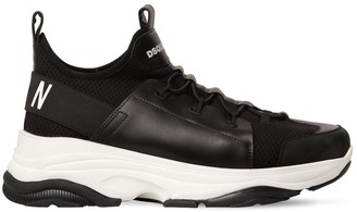 DSQUARED2 Icon Bumpee Mixed Tech Low Top Sneakers