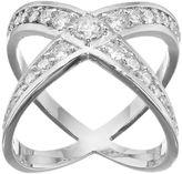 JLO by Jennifer Lopez Red Carpet Ready Cubic Zirconia Crisscross Ring