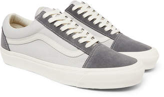 Vans Og Old Skool Lx Leather-Trimmed Suede And Canvas Sneakers