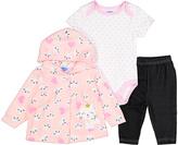 Pink Kitty Microfleece Jacket Set - Infant