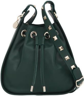 Aurora London The Ziggy Crossbody Studded Leather Bag Olive Green