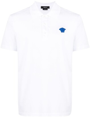 Versace Logo-Patch Polo Shirt