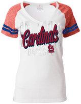 5th & Ocean Women's St. Louis Cardinals White Hot T-Shirt