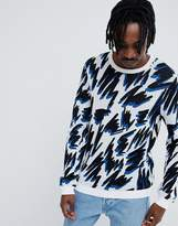 Asos Knitted Sweater With All Over Squiggle Design