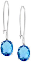 Effy Final Call by Blue Topaz Drop Earrings (9-3/4 ct. t.w.) in 14k White Gold