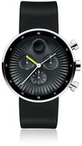 Movado Stainless Steel & Silicone Strap Black Dial Chronograph Watch