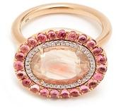 Irene Neuwirth Diamond, sunstone, tourmaline & rose-gold ring