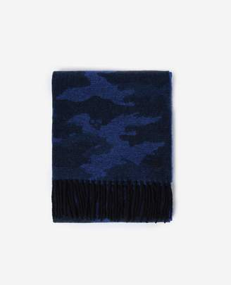 The Kooples CAMOUFLAGE SCARF WITH BORDER