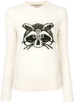 Ermanno Scervino Racoon embroidered sweater - women - Silk/Polyamide/Cashmere/glass - 40