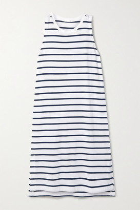 Skin Elanie Striped Stretch-jersey Dress - Blue