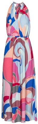Emilio Pucci Beach Printed halterneck maxi dress
