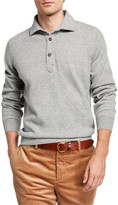Brunello Cucinelli Solomeo Wool-Blend Polo Sweater