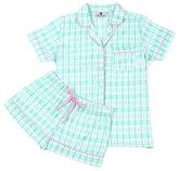 Malabar Bay Aqua Sea Kisses Organic Cotton Sateen Short Pajama Set