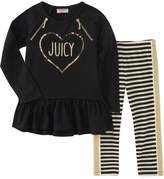 Juicy Couture Graphic Top and Printed Leggings Set