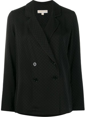 MICHAEL Michael Kors pyjama-style logo jacquard blazer