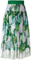 Dolce & Gabbana floral pleated skirt - women - Silk/Cotton/Polyamide/Spandex/Elastane - 40