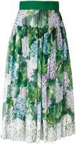 Dolce & Gabbana floral pleated skirt - women - Silk/Cotton/Polyamide/Spandex/Elastane - 44