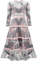 Alexis floral patterned flared dress