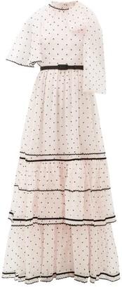 Erdem Natalina One-shoulder Polka-dot Gown - Womens - Light Pink