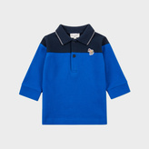 Paul Smith Baby Boys' Blue Zebra-Logo 'Moro' Polo Shirt