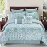 Bed Bath & Beyond Dawson Reversible 8-Piece King Comforter Set in Blue/White