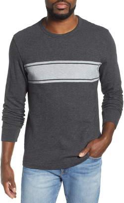 Faherty Slub Stripe Long Sleeve T-Shirt