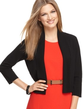 Calvin Klein Size Open-Front Cardigan