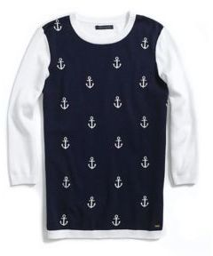Tommy Hilfiger Women's 3/4 Sleeve Anchor Pullover
